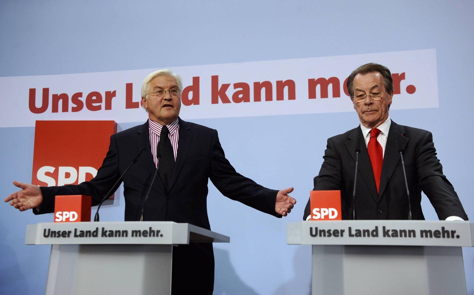 NICHT VERWENDEN Steinmeier/ Müntefering/ Bundestagswahl