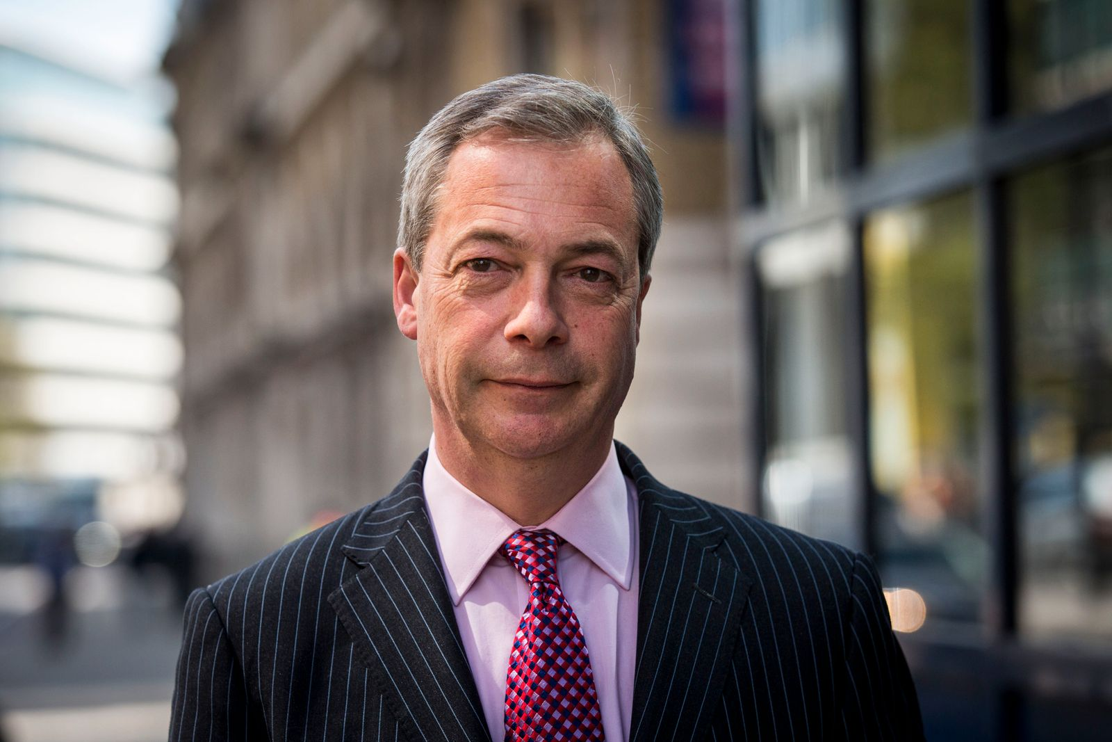 UKIP Leader Leaves Express Newspaper's Office The Day After Receiving £1Million Donation From The Proprietor
