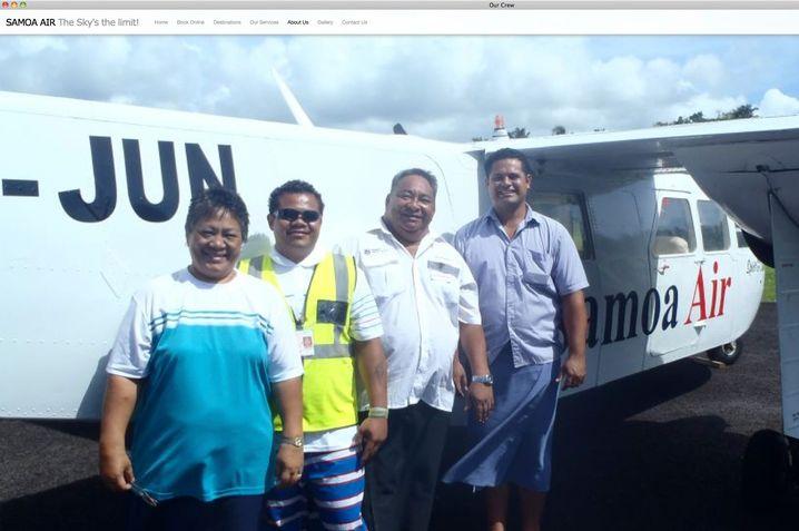 """Crew von Samoa Air: """"Ein Kilo ist ein Kilo ist ein Kilo"""""""