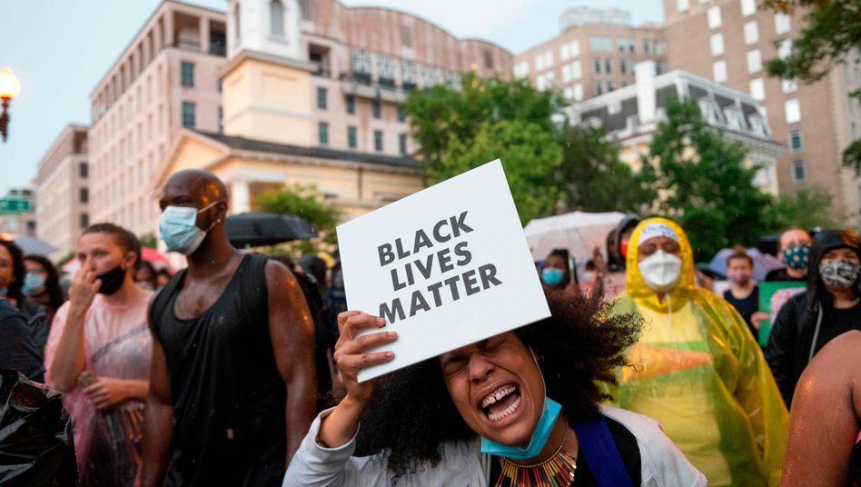 """""""Erschöpft und empört"""": Protestierende in Washington"""