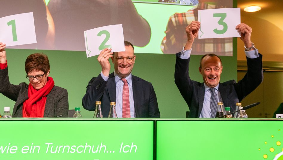 Annegret Kramp-Karrenbauer, Jens Spahn, Friedrich Merz