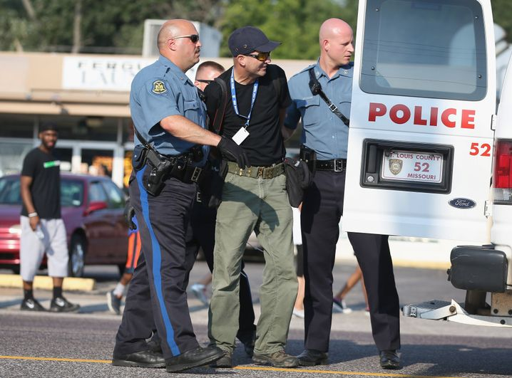 Festnahme von Getty-Fotograf Scott Olson in Ferguson