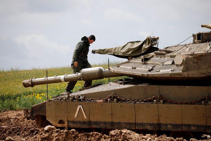 Israelischer Soldat am Gazastreifen