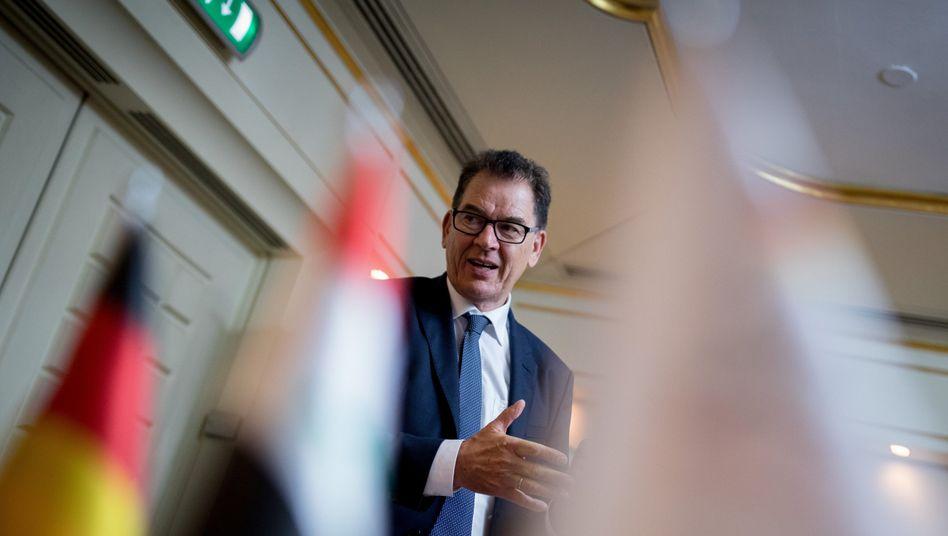 Entwicklungsminister Müller 2018 bei Gesprächen im Irak