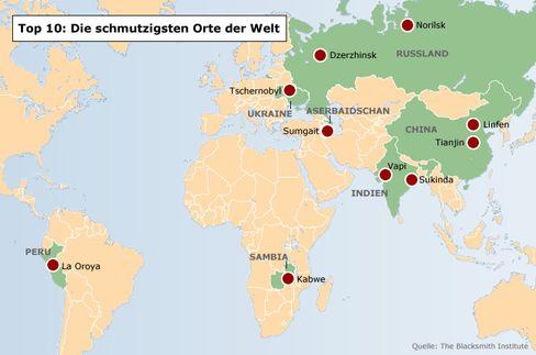 Zentren der Umweltverschmutzung: Die 10 dreckigsten Städte
