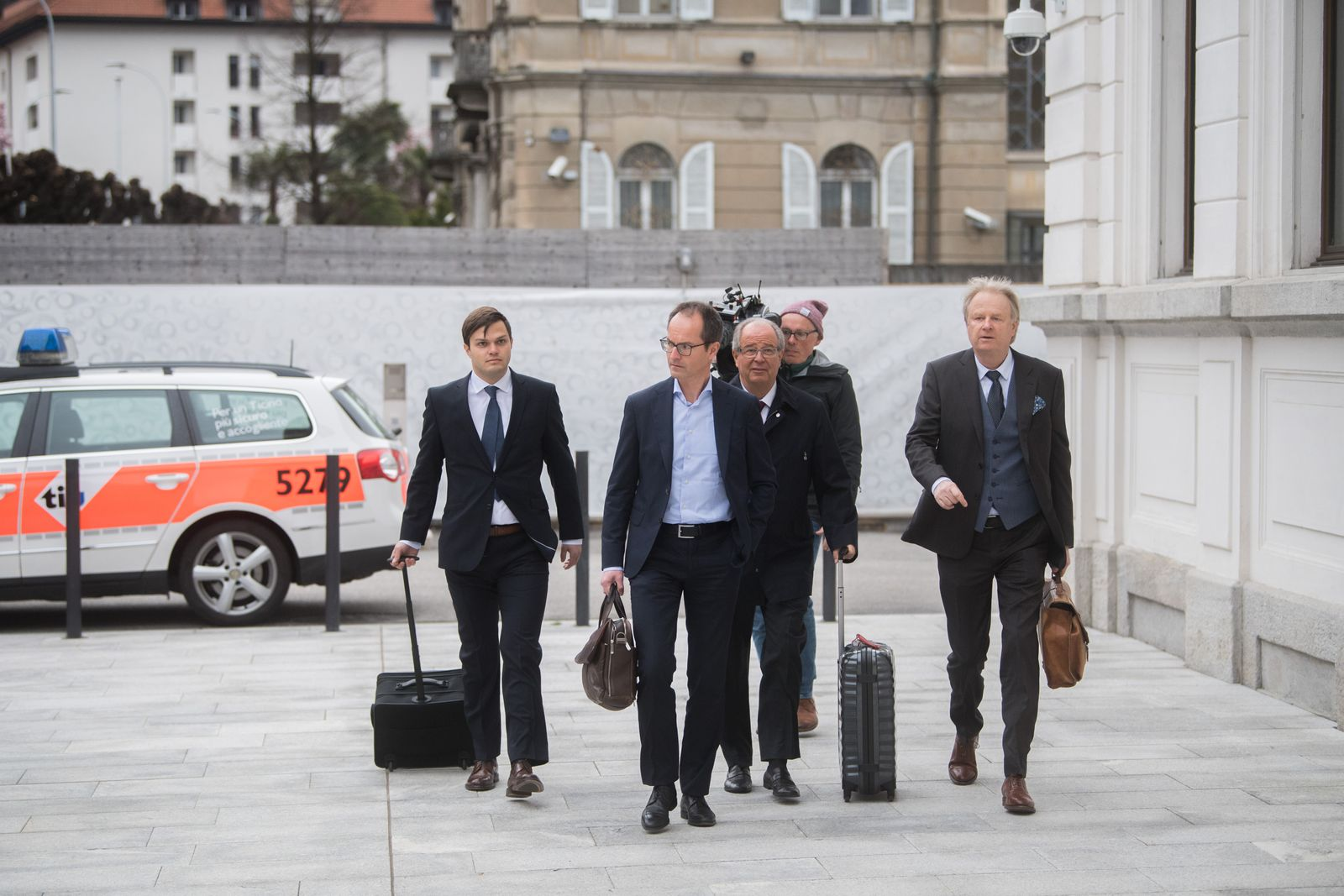 Ex-FIFA head Linsi arrives for trial in Switzerland over World Cup bribery accusations, Bellinzona - 09 Mar 2020