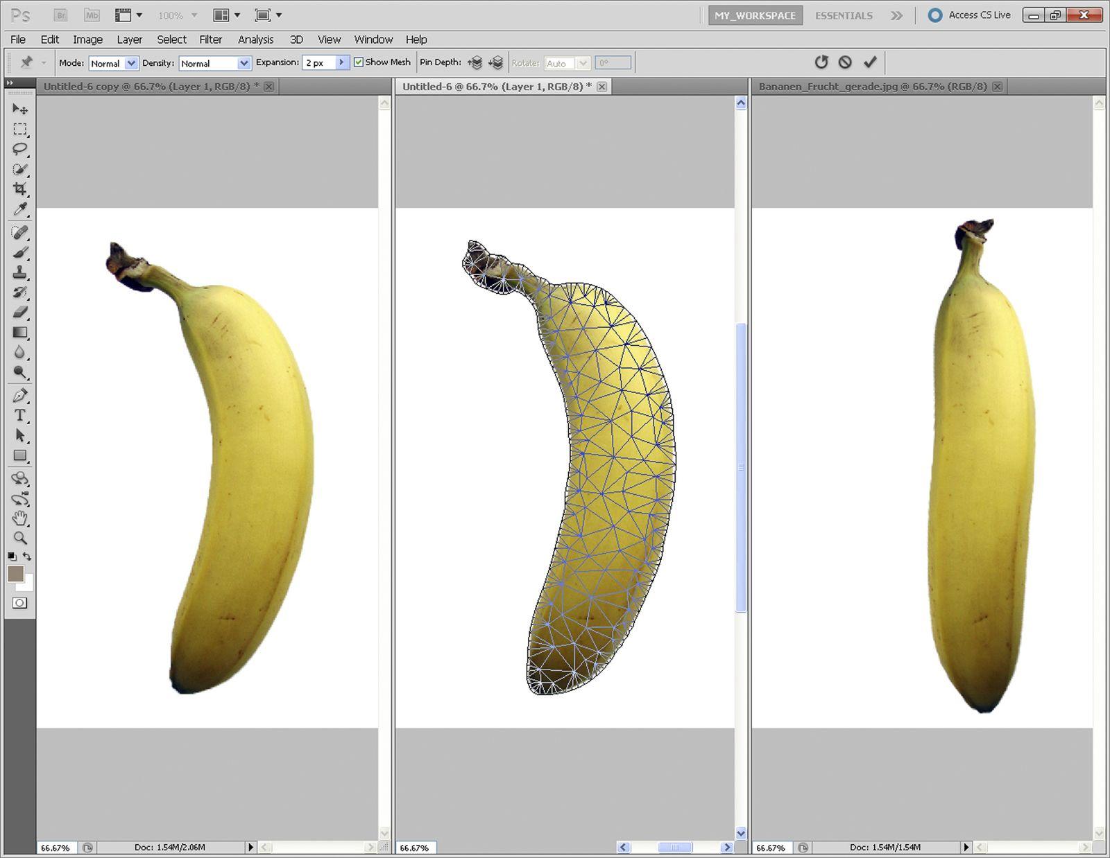 Bildbearbeitung Banane / Adobe Photoshop CS5