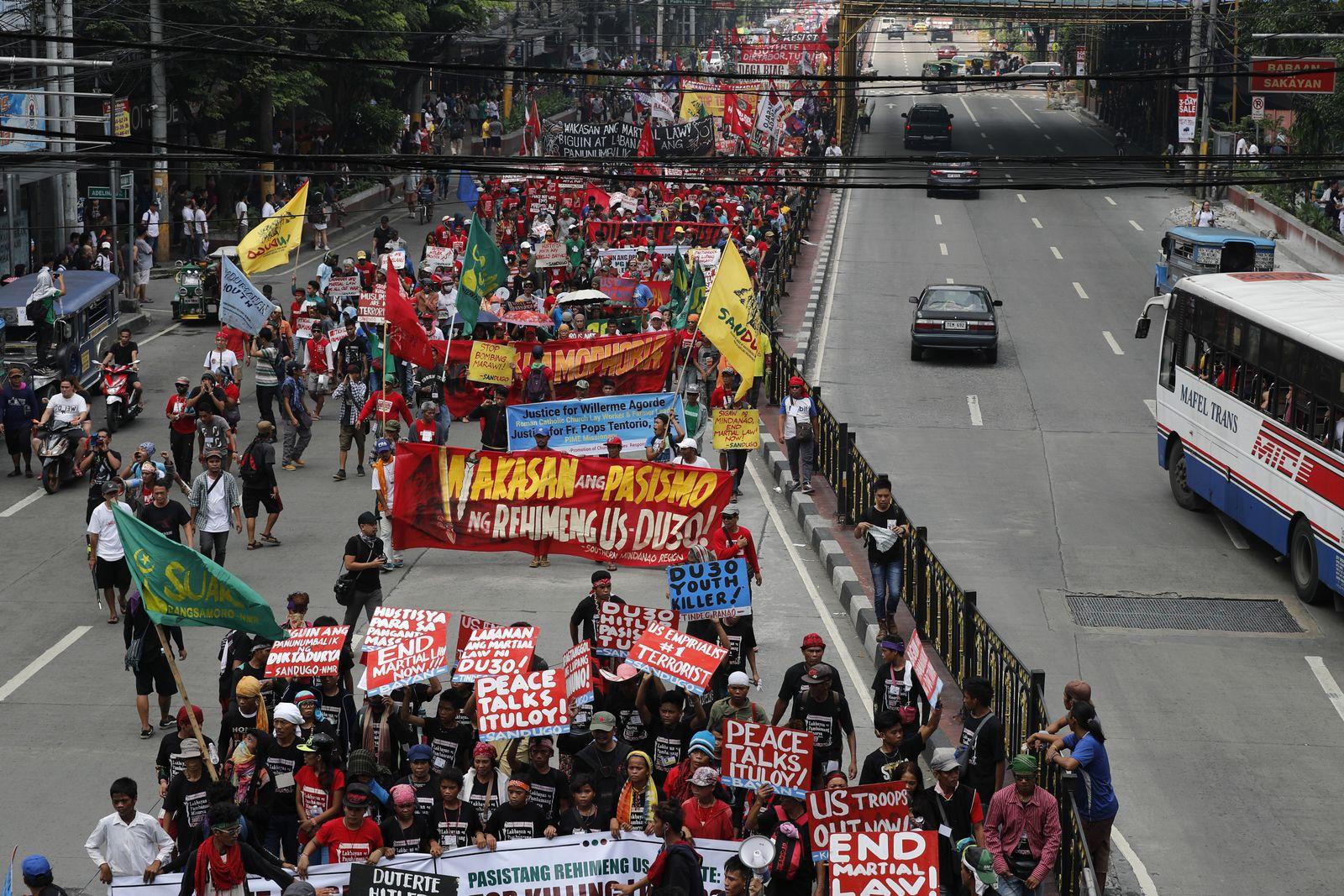 Philippinen/ Protest/ Demo