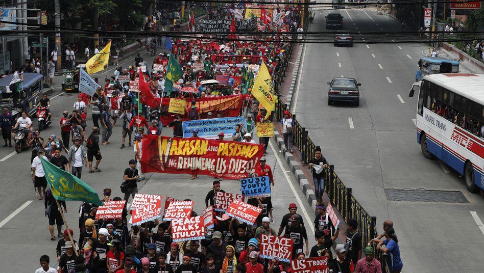 Demonstration in Manila