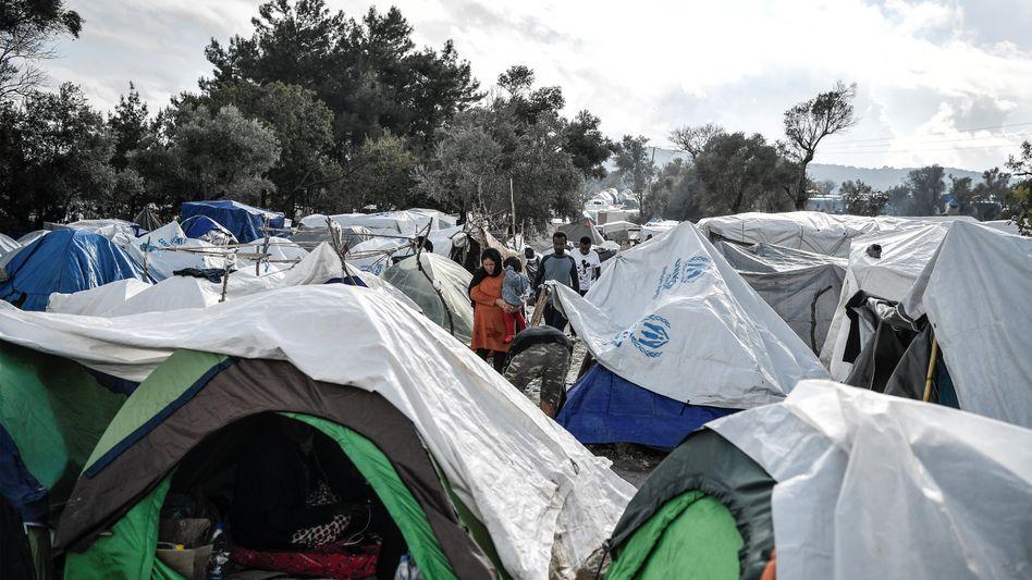 Flüchtlingscamp auf der griechischen Insel Chios (Archiv)