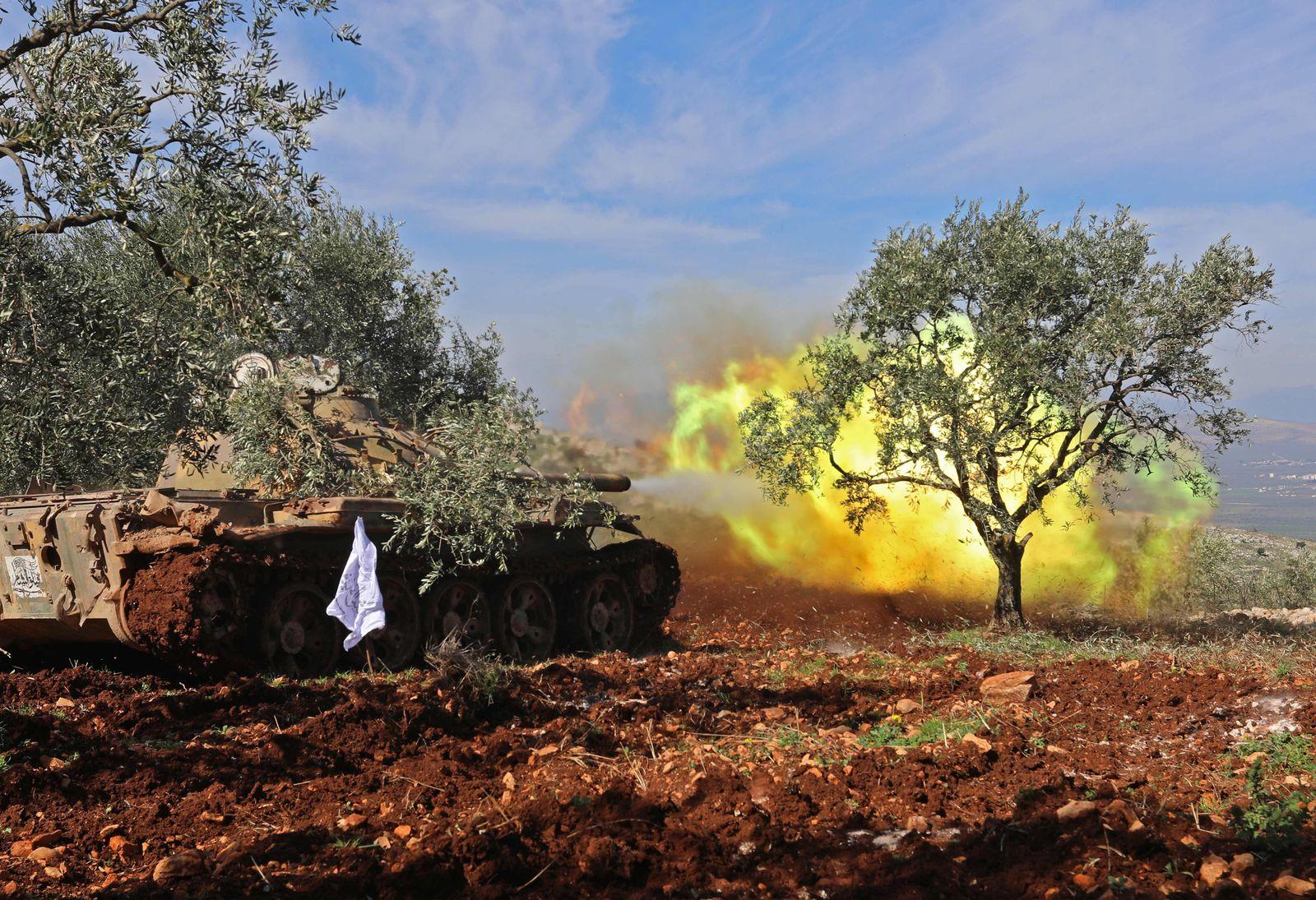 Türkei/ Syrien/ Panzer/ Afrin
