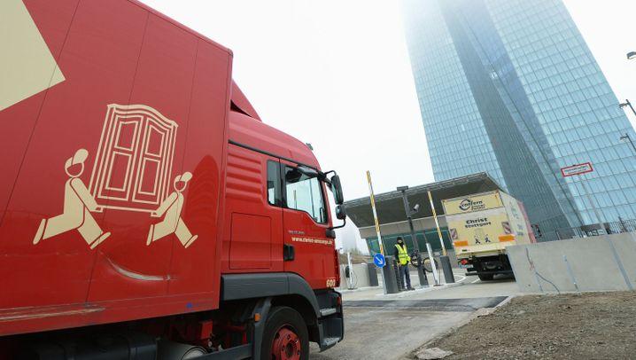 Neubau der EZB: Die Karton-Karawane