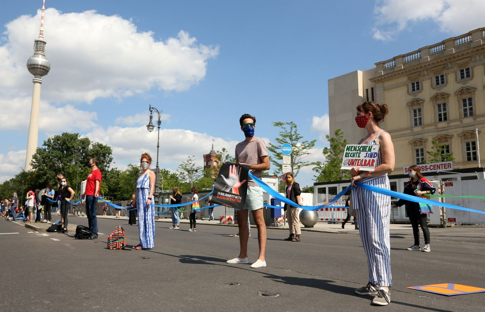 """""""Unteilbar"""" Protests Demand Social And Political Change During The Coronavirus Pandemic"""