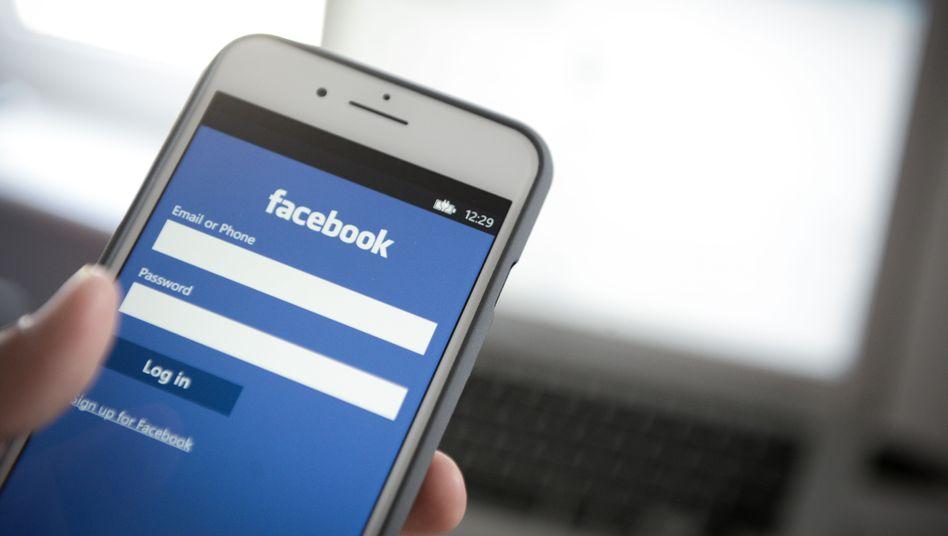 Facebook-App auf einem iPhone