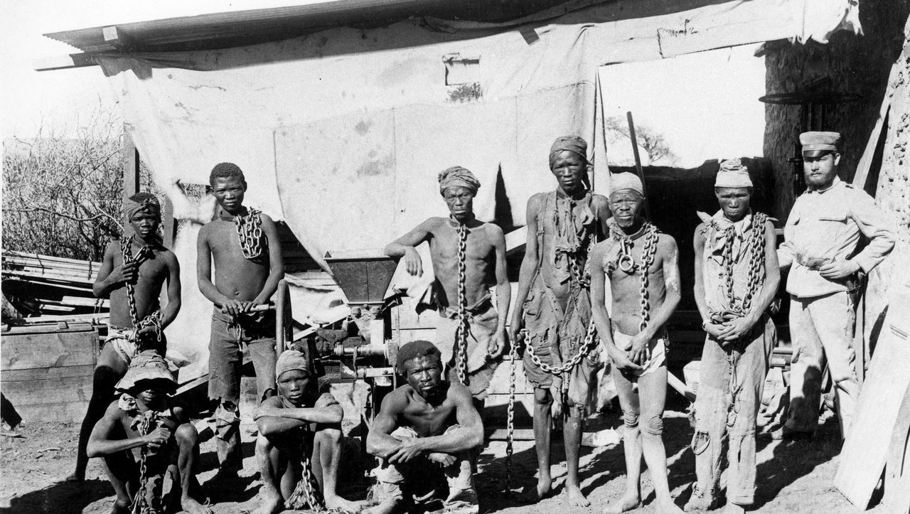 DEUTSCH-SÜDWESTAFRIKA Namibia DSWA LANDKARTE um 1905 Gefechte Herero Lager