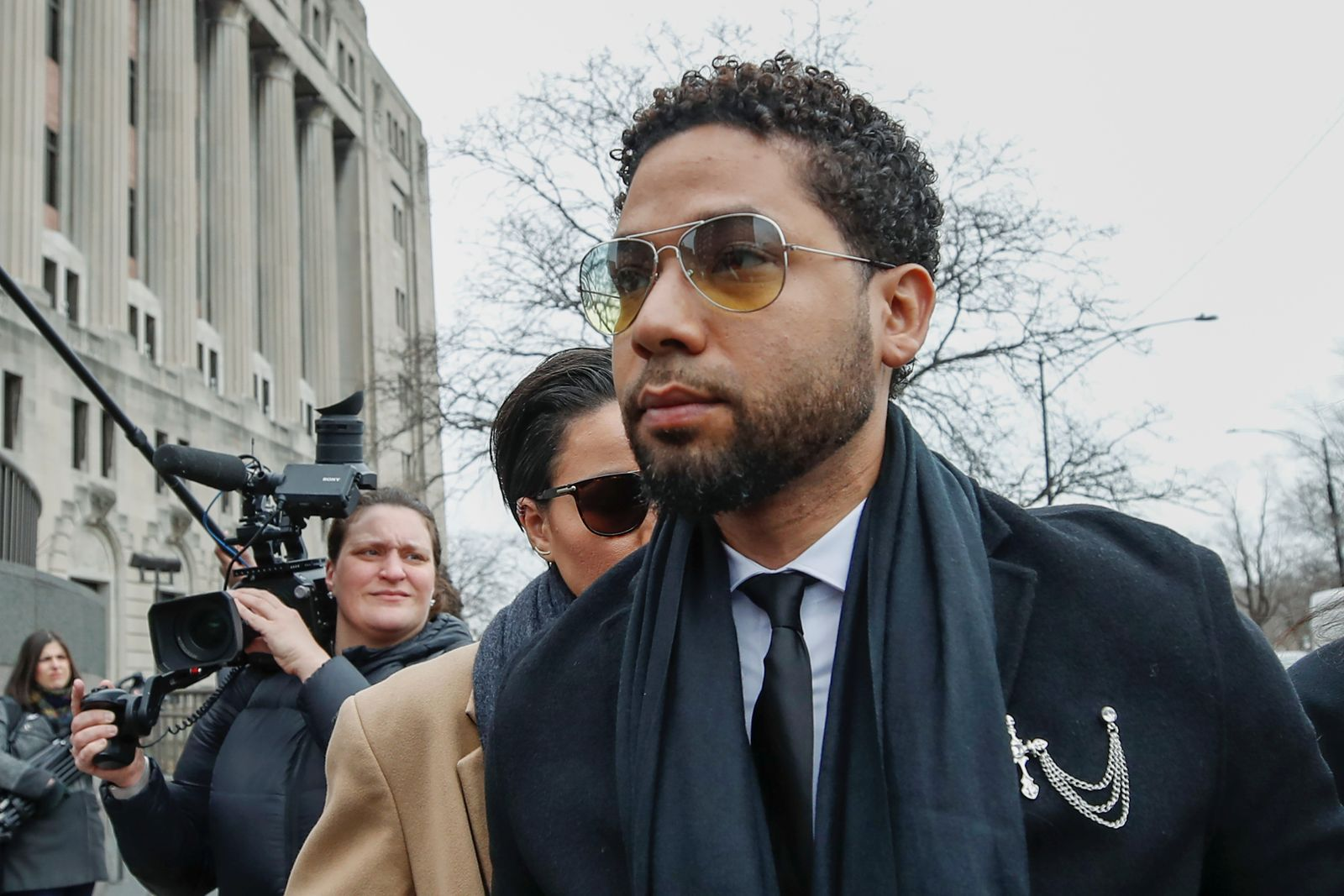 """Former """"Empire"""" actor Jussie Smollett arrives at court for his arraignment in Chicago"""