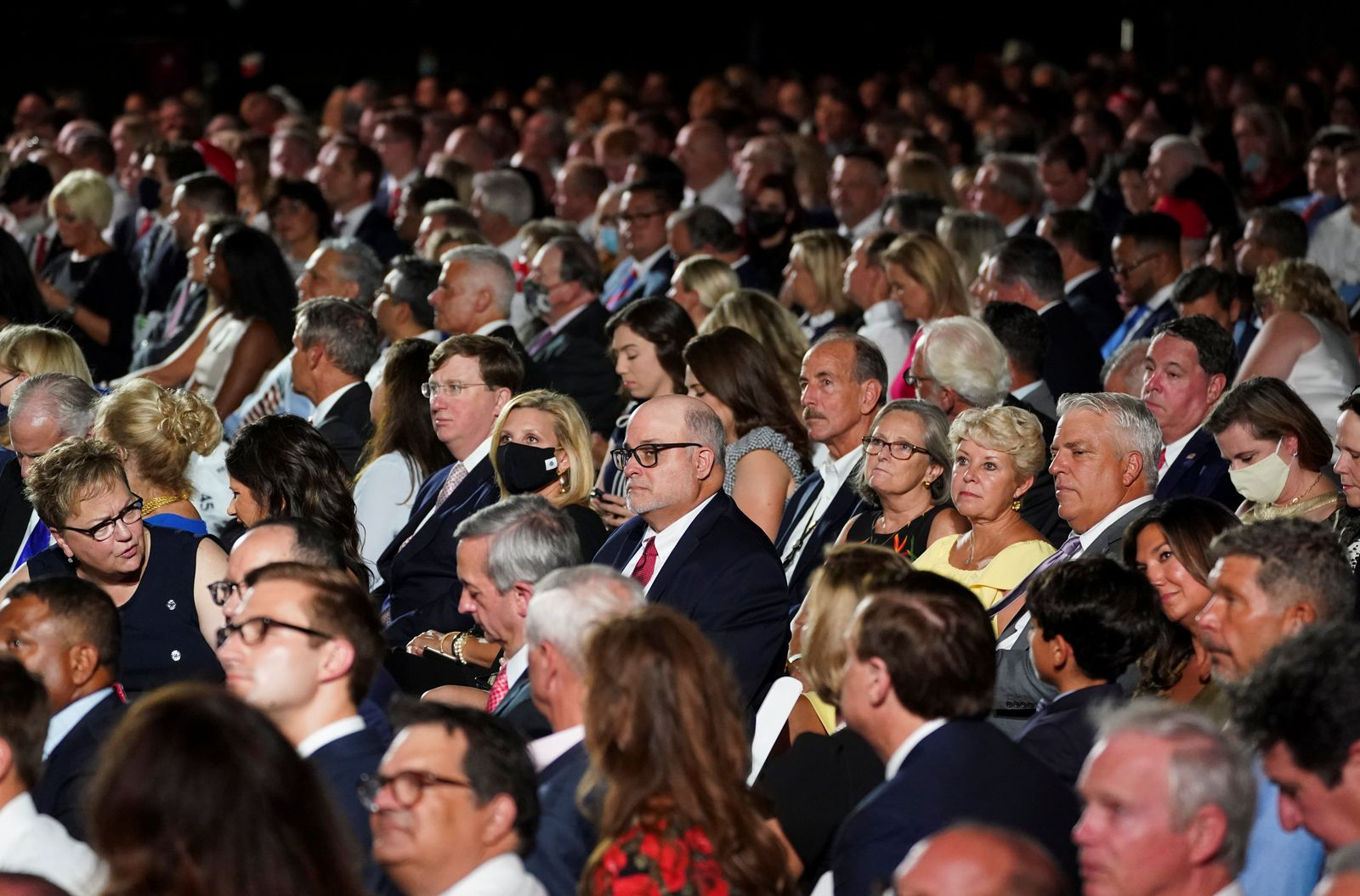 Supporters of U.S. President Donald Trump pack the South Lawn of the White House for his acceptance speech as the 2020 Republican presidential nominee in Washington