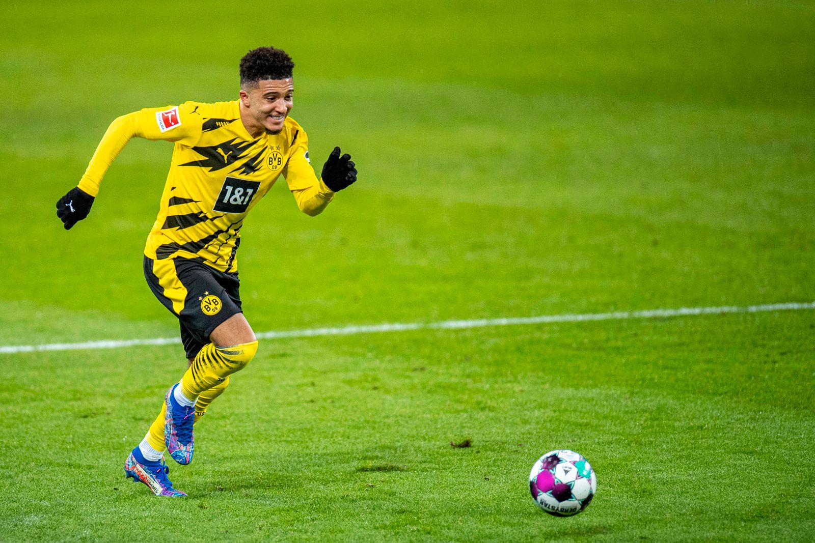 Fußball: 1. Bundesliga, Saison 2020/2021, 18. Spieltag, Borussia Mönchengladbach - Borussia Dortmund am 22.01.2021 im B