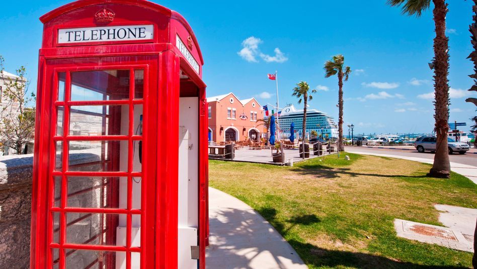 Britische Telefonzelle auf Bermuda (Archivbild)