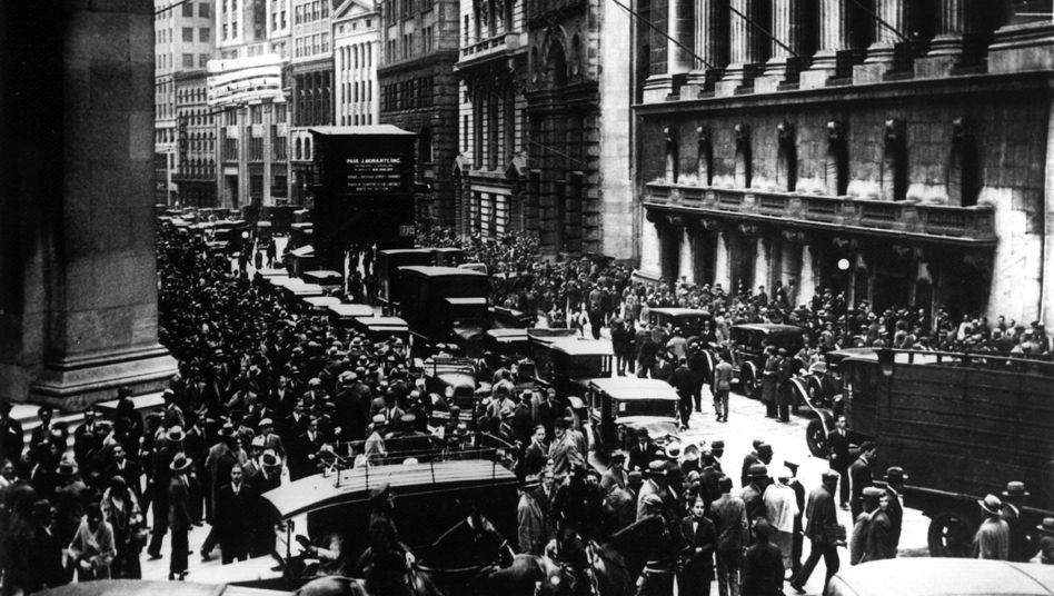 Aktionäre vor der New Yorker Börse (1929)