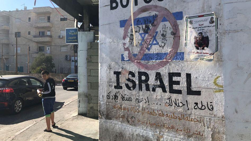 Pro-BDS-Graffito in Bethlehem: Der Bundestagsantrag unterscheidet nicht zwischen Israel und den besetzten Gebieten
