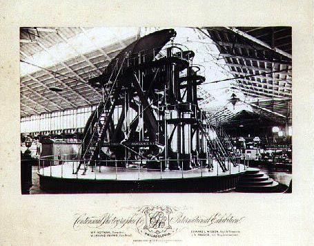 Die Dampfmaschine - auf der Weltausstellung 1876 beeindruckte sie die Besucher in Philadelphia