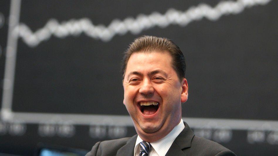 Börsianer in Frankfurt (Oktober 2011): Zunehmende Gelassenheit