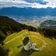 Künstler sprüht gigantisches Corona-Graffiti in Schweizer Alpen