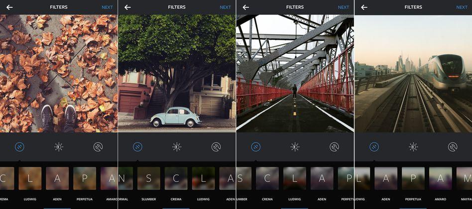 Screenshots der Instagram-App