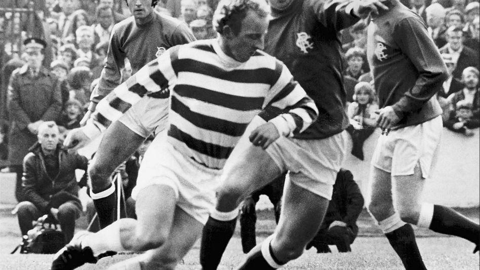 Celtic-Legende Johnstone im Spiel gegen die Rangers: Bar jeglicher Rationalität