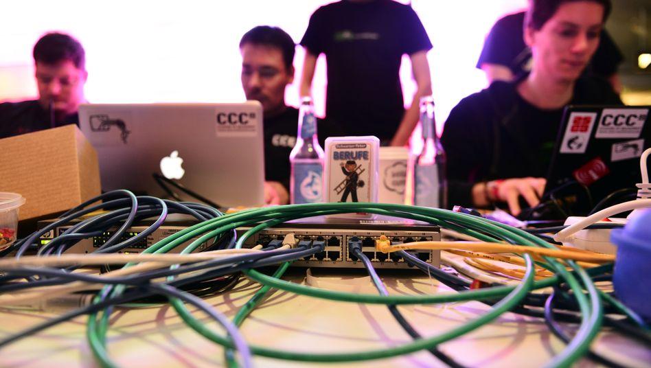 Besucher einer CCC-Veranstaltung (Archivbild): Hacker unter sich