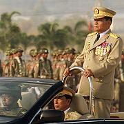 Grausamer Diktator: General Shwe während einer Parade im März 2008