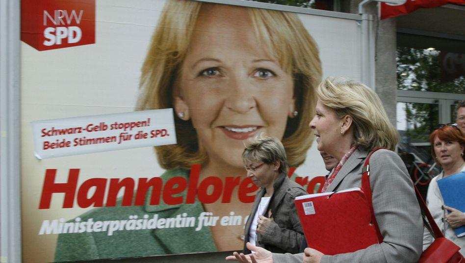 Hannelore Kraft auf dem Weg zu Koalitionsverhandlungen am Dienstag