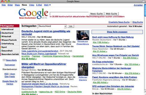 Google News: Angriff auf die Netz-Presse