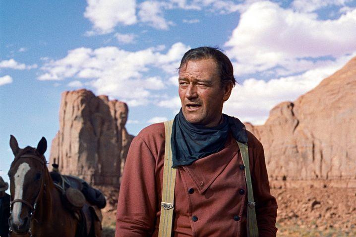 """John Wayne im Western """"Der Schwarze Falke"""" von 1956: Filmlegende und Rassist?"""
