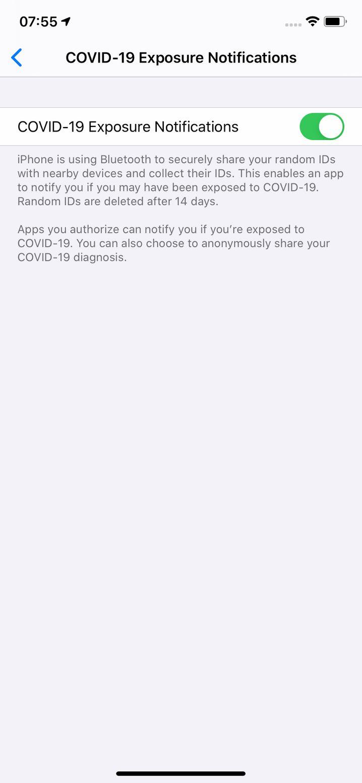 In der Betaversion von iOS 13 lassen sich bereits die Benachrichtigungen für Tracing-Apps einschalten