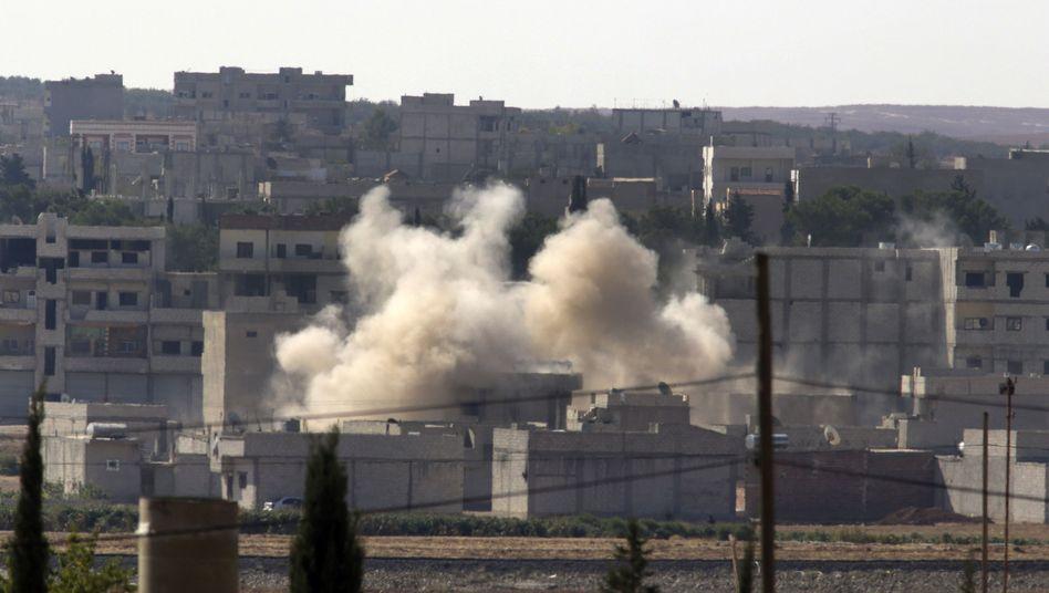 Granateneinschlag in Kobane: IS nimmt die Grenzstadt unter Beschuss