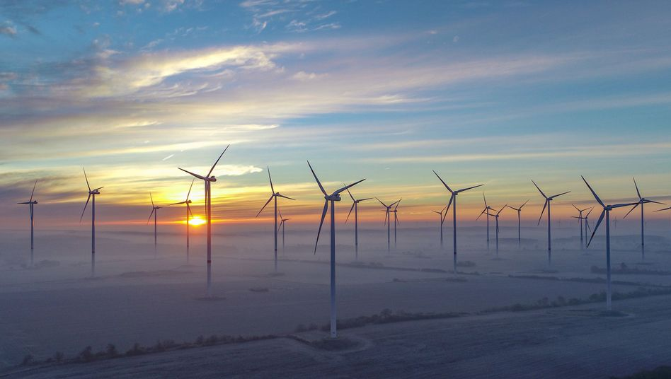 Windenergiepark in Brandenburg