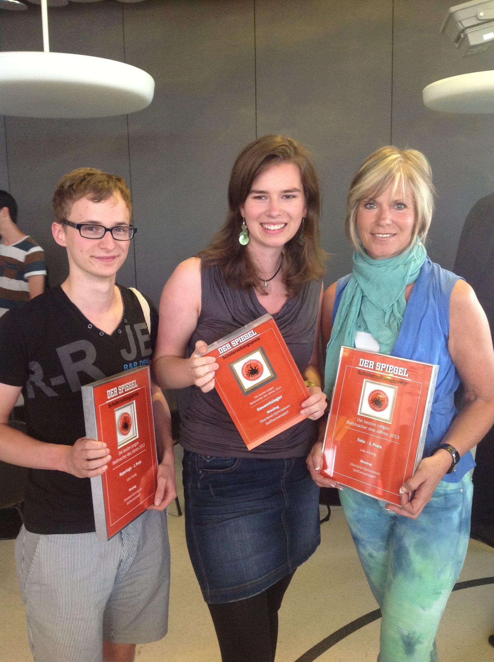 SZP 2013 Schülerzeitungspreis Sieger
