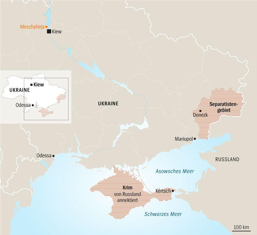 Karte Ukraine Tag 1 Story