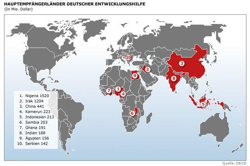 Wo deutsche Entwicklungshilfe hinfließt / Klicken Sie auf die Karte