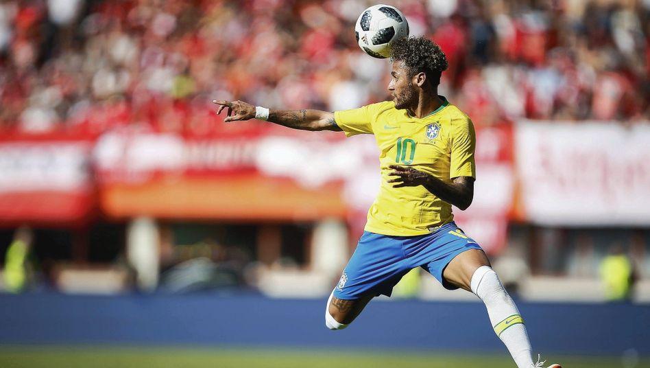 Brasilien-Star Neymar im Vorbereitungsspiel am 10. Juni in Österreich: »Ohne ihn fehlen uns 50 Prozent«