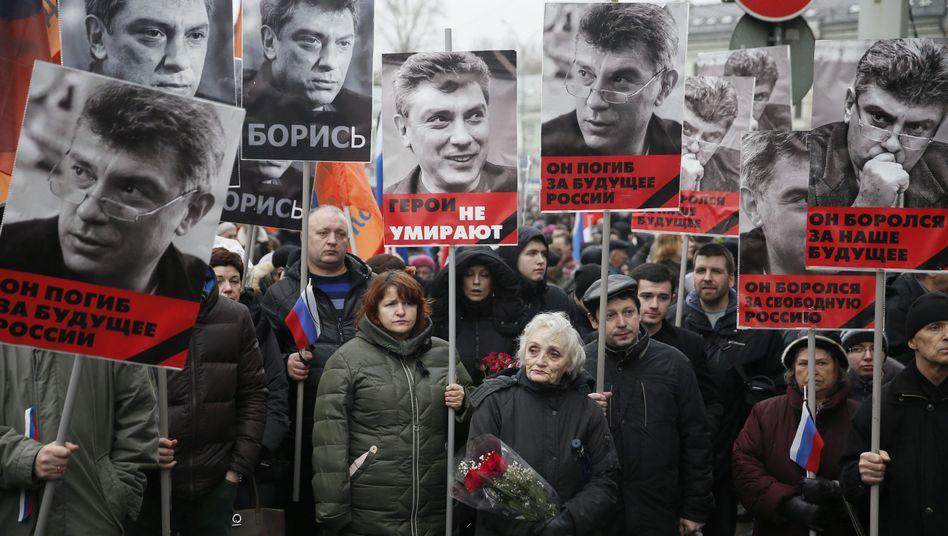 Erschossener Oppositionsführer Nemzow: Russland meldet Verdächtige