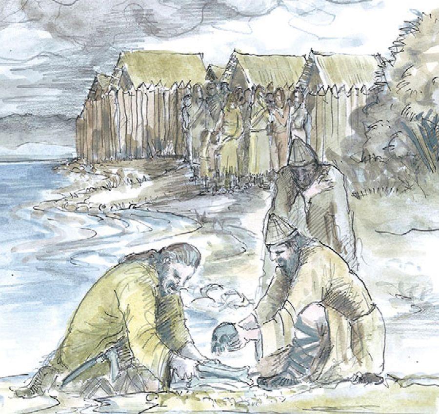 EINMALIGE VERWENDUNG Ausgegraben/ Tote Kinder gegen die Flut