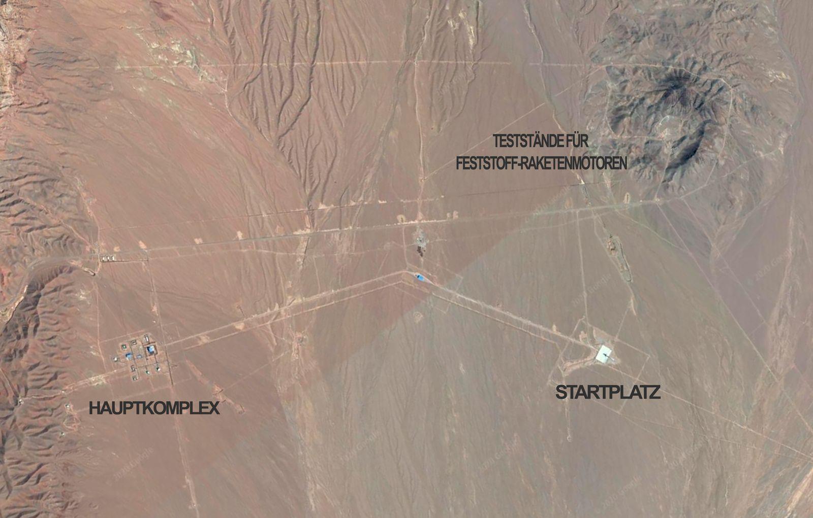 Iranischer Raketenstart - Iran Facility 25