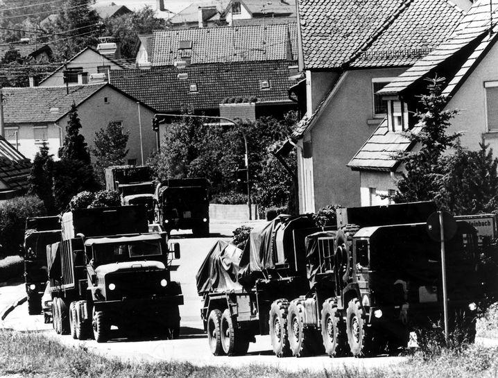 """""""Pershing 2""""-Transport: Festgezurrt wie Gulliver in Liliput"""