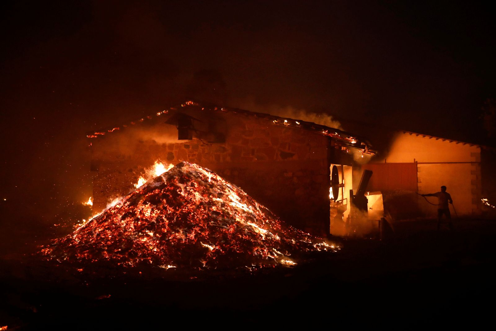 Wildfire erupts on Evia island