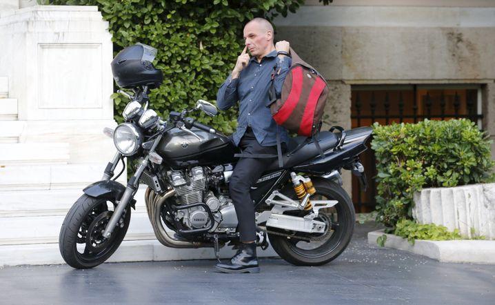 Motorradfahrer Varoufakis