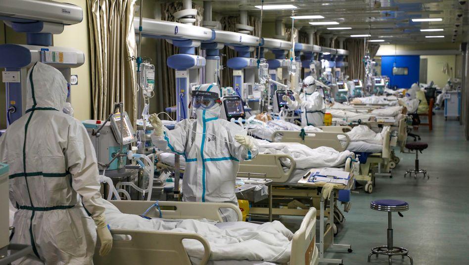 Krankenstation in Wuhan: Rasanter Anstieg der Fallzahlen