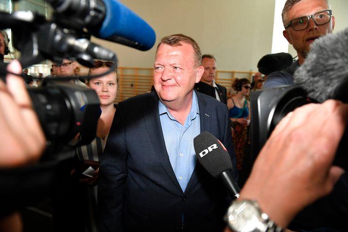 Lars Løkke Rasmussen bei der Stimmabgabe